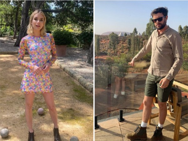 Actor Emma Roberts and comedian Jack Whitehall (Image source: Instagram)
