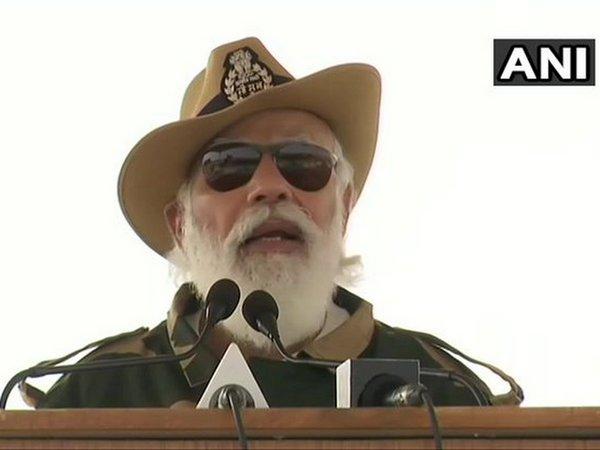 Prime Minister Narendra Modi in Jaisalmer (Photo/ANI)
