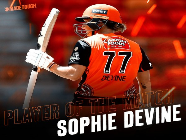 Perth Scorchers' all-rounder Sophie Devine (Photo/ Perth Scorchers Twitter)