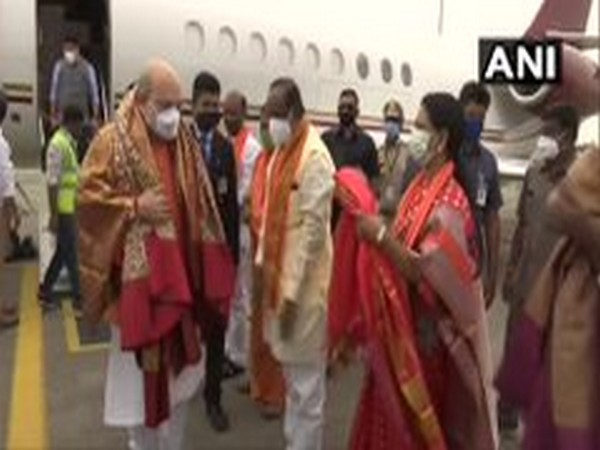 Union Home Minister Amit Shah in Hyderabad (Photo/ANI)
