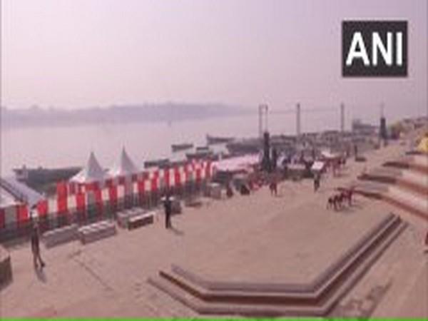 Preparations are underway at Rajghat in Varanasi ahead of Prime Minister Narendra Modi's visit. (Photo/ANI)