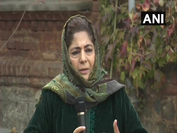 Former Jammu and Kashmir Chief Minister and Peoples Democratic Party (PDP) chief Mehbooba Mufti (Photo/ANI)