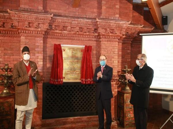 Foreign Secretary Harsh Shringla inaugurating the Tashop (Tare) Gompa Monastery in Nepal on Friday.