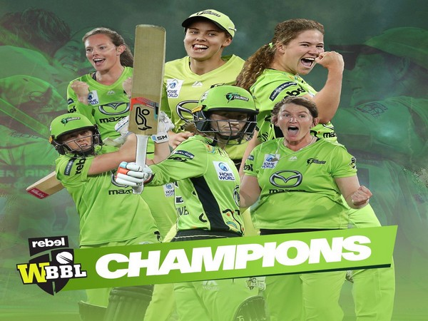 Sydney Thunder wins BBL 2020-21 edition (Photo/ Sydney Thunder Twitter)