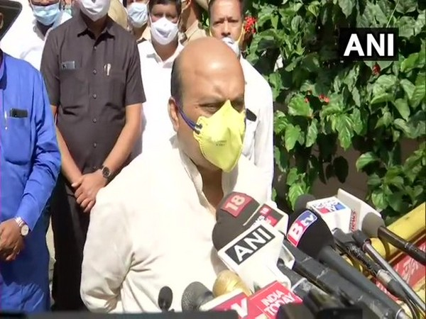 Karnataka Home Minister Basavaraj Bommai speaking to media in Bengaluru on Tuesday. Photo/ANI