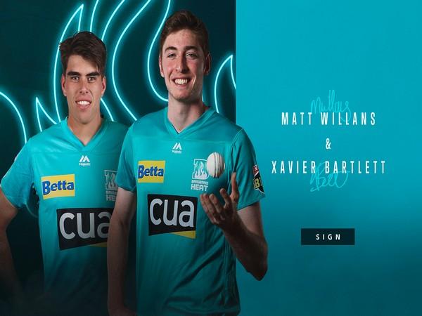 Xavier Bartlett and Matthew Willans joined Brisbane Heat (Photo/ Brisbane Heat Twitter)
