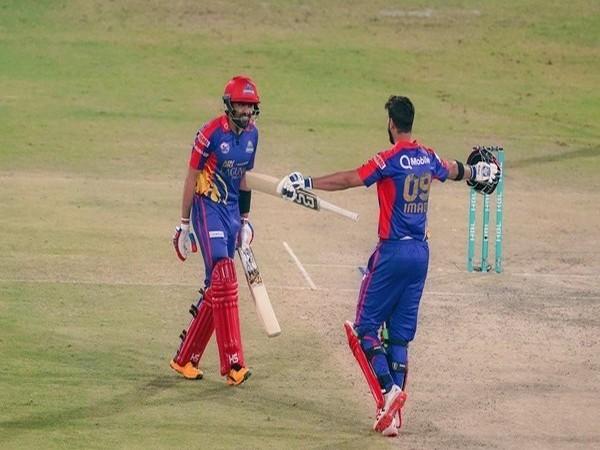 Karachi Kings batters' Babar Azam and Imad Wasim (Photo/ PSL Twitter)