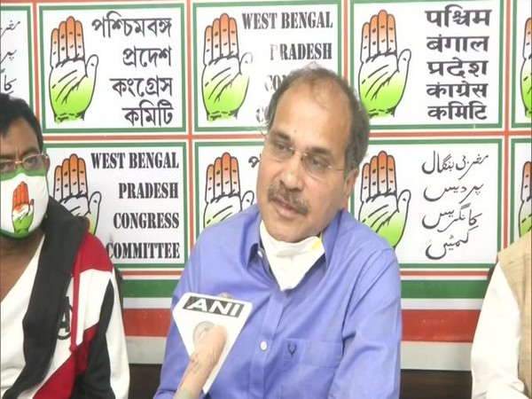 Senior Congress leader Adhir Ranjan Chowdhury speaking to reporters in Kolkata on Tuesday. Photo/ANI