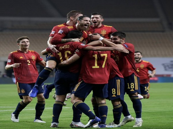 Spain celebrates victory over Germany (Photo/ Spain Football Twitter)