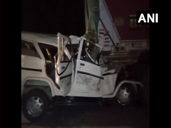 The incident took place when an SUV with 14 travellers collided with a truck parked on the side of the road. Photo/ANI