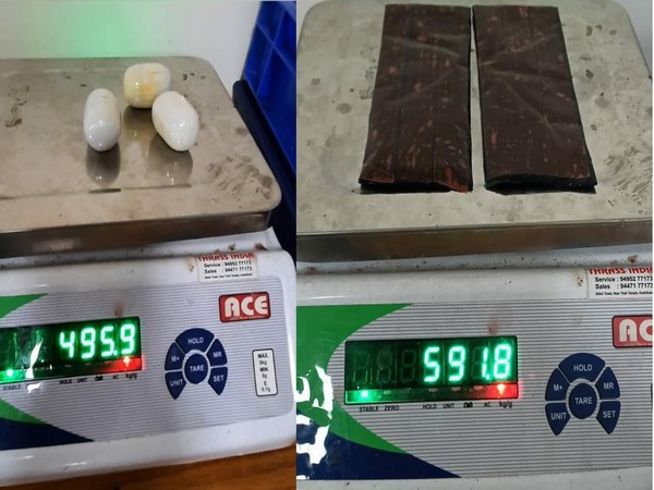 A total of 1,088 grams of compound gold seized from the Kozhikode International Airport.