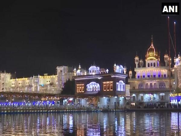 The Golden Temple illuminated on the eve of the 551st birth anniversary of Guru Nanak Dev. (Photo/ANI)