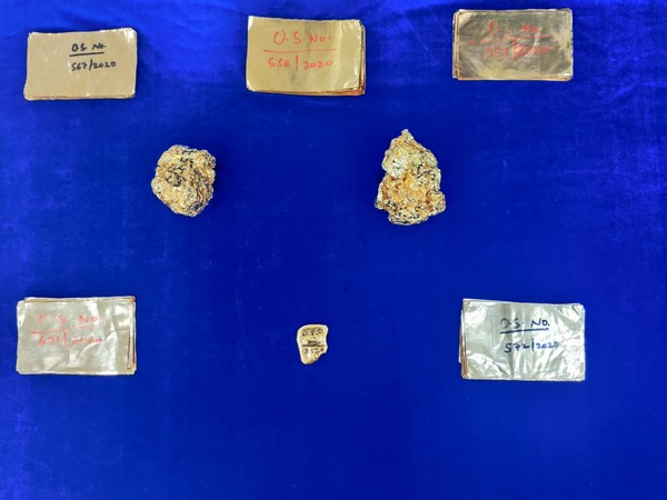 Gold worth Rs 1.57 crores seized at Chennai Airport (Photo/Twitter)