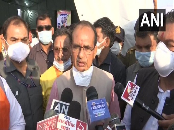 Chief Minister Shivraj Singh Chouhan speaking to the reporters (Photo/ANI)
