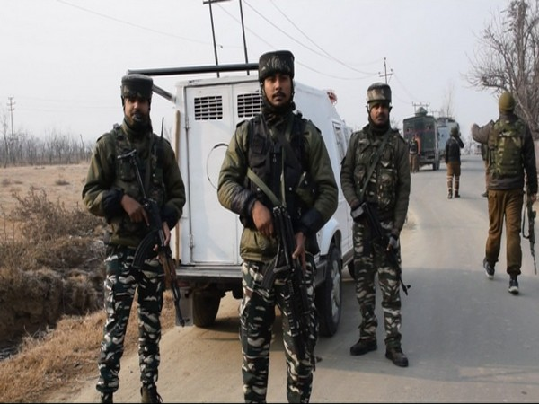 Security forces at encounter site