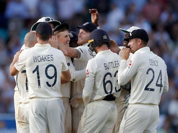 England win fifth Ashes Test match by 135 run here on Sunday. (Photo/ ICC Twitter)