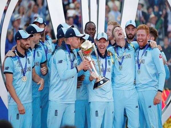 England team celebrating after 2019 WC triumph