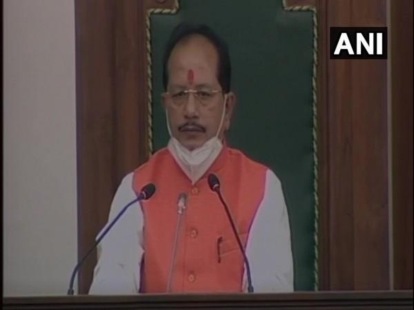 Bihar Assembly's newly-elected Speaker Vijay Sinha. [Photo/ANI]