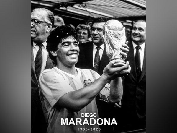 Argentine legend Diego Maradona (Photo/ Ravi Shastri Twitter)