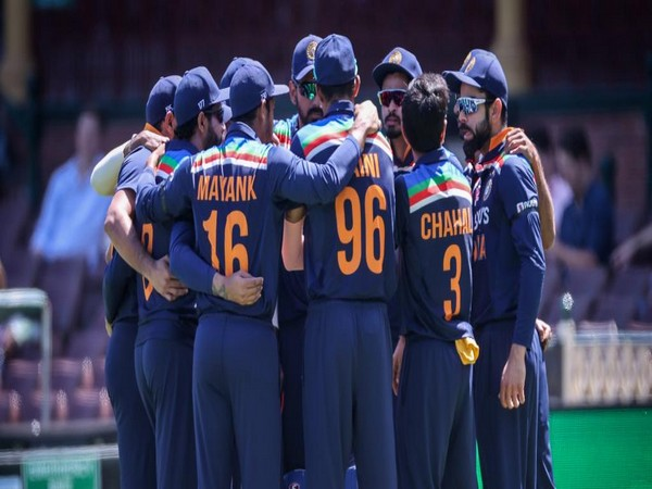 Indian players in a huddle at the Sydney Cricket Ground (Photo: ICC Twitter)