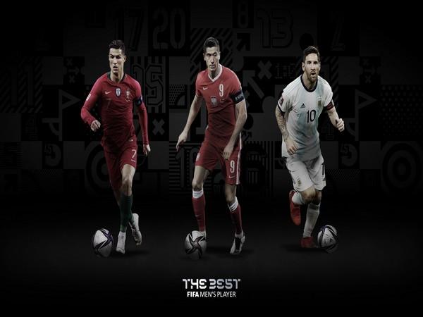 Cristiano Ronaldo, Robert Lewandowski and Lionel Messi (Photo/ FIFA Twitter)