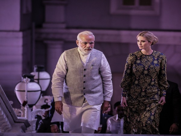 Prime Minister Narendra Modi with Ivanka Trump during Global Entrepreneurship Summit that was held in India in 2019. (Twitter/Ivanka Trump)
