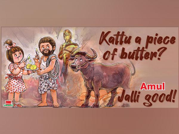Amul's doodle celebrating Oscar nomination (Image Source: Twitter)