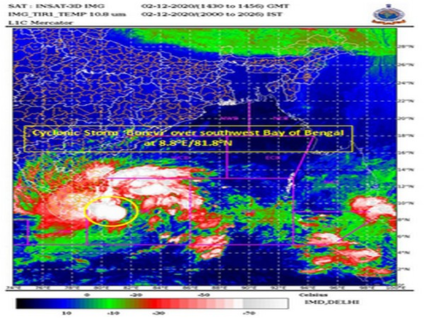Cyclonic storm 'Burevi' over southwest Bay of Bengal (Photo/India Meteorological Department)