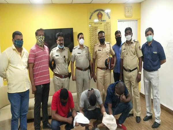 Police seized cocaine and arrested three foreign nationals in Mumbai (Photo/ANI)