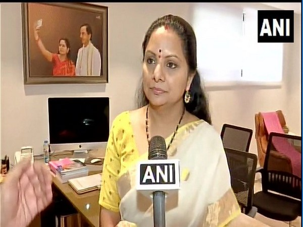TRS leader K Kavitha (Photo/ANI)