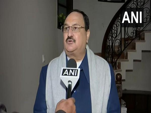 BJP chief JP Nadda speaking to ANI on Friday in Haridwar. Photo/ANI