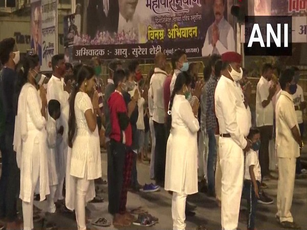 People gathered at Chaityabhoomi to pay tribute to Dr BR Ambedkar. (Photo/ANI)