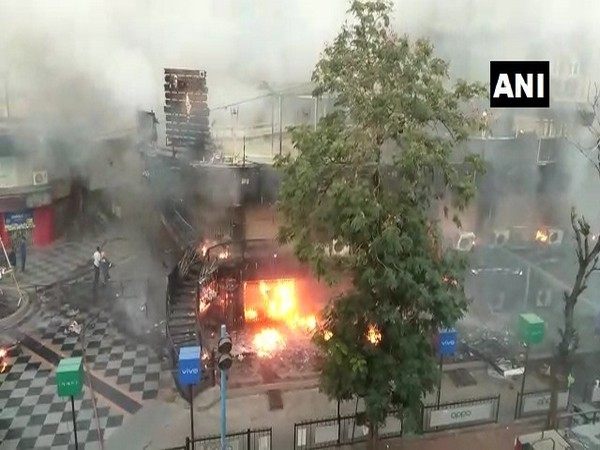The spot where the fire broke out in Ahmedabad on Sunday. (Photo/ANI)