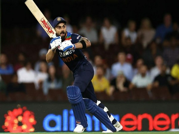 Indian skipper Virat Kohli in action against Australia (Photo/ Virat Kohli Twitter)