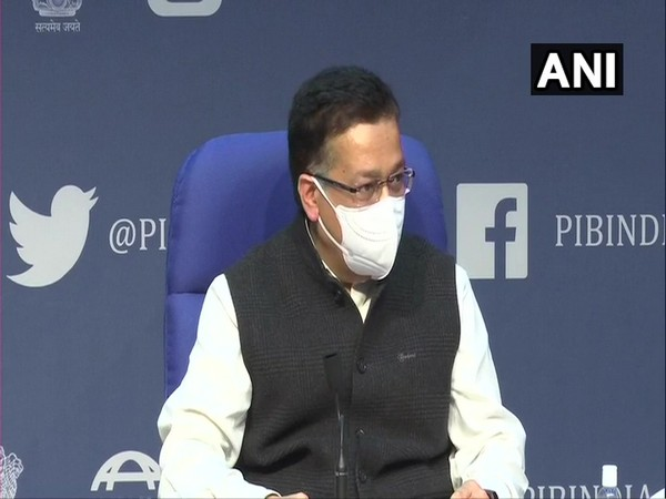 Union Health Secretary Rajesh Bhushan speaking at the Health Ministry press conference in the national capital on Tuesday [Photo/ANI]