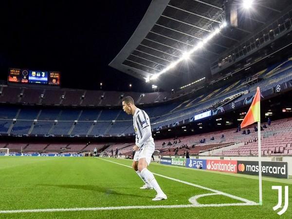 Juventus' Ronaldo in action against Barcelona (Photo/ Juventus FC Twitter)