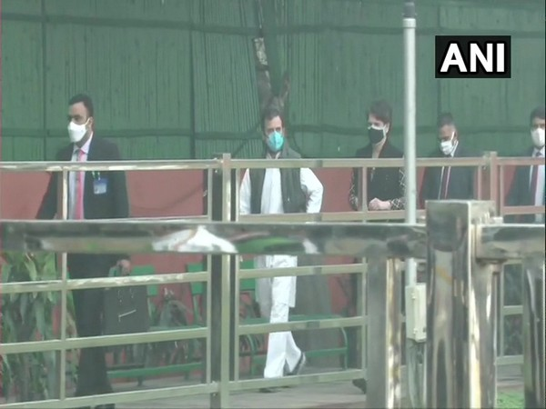 Rahul Gandhi and Priyanka Gandhi at Congress headquarters on Thursday. (Photo/ANI)
