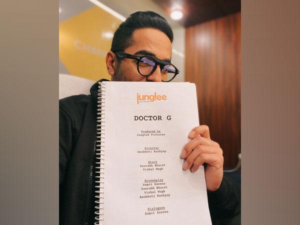 Actor Ayushmann Khurrana with script of 'Doctor G' (Image Source: Instagram)