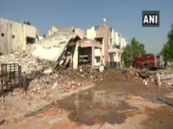 Visuals from the explosion in Gandhinagar. (Photo/ANI)