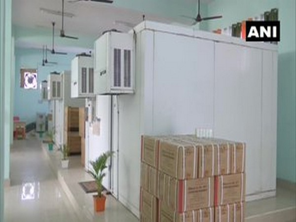 Visual from vaccine storage centre in Patna's Nalanda Medical College and Hospital. (Photo/ANI)
