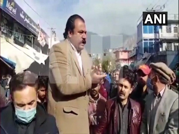 Locals held protests as government demolished many shops in Danyor district of Gilgit Baltistan. (Photo/ANI)