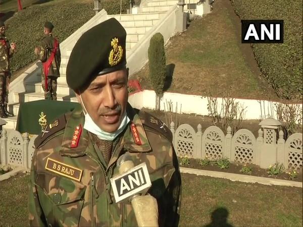 GOC Chinar Corps Lieutenant General BS Raju (Photo/ANI)