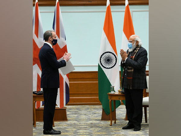 UK Foreign Secretary Dominic Raab called on PM Modi (Photo/MEA Twitter)