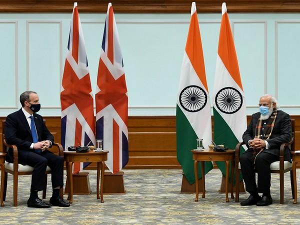 PM Modi  meets UK Foreign Secretary Dominic Raab (Photo/MEA Twitter)