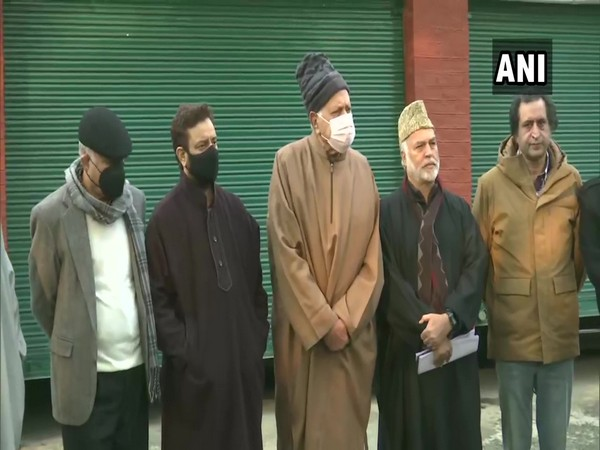 Members of the People's Alliance in Srinagar after a meeting. (Photo/ANI)
