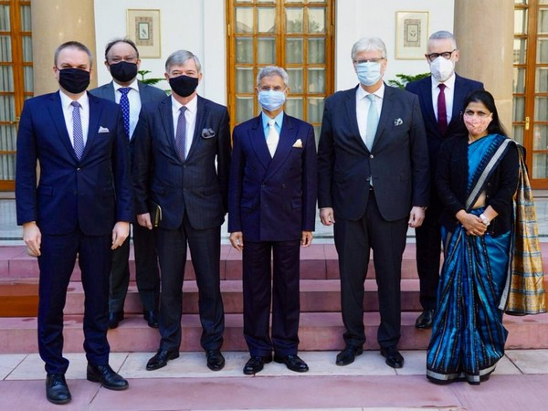 External Affairs Minister S Jaishankar on Friday met envoys of Poland, Czech Republic, Slovakia and Hungary