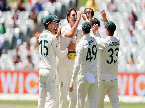 Pat Cummins in action against India (Photo/ ICC Twitter)