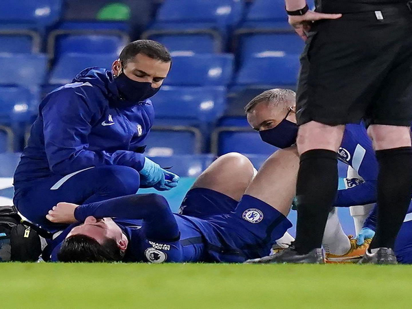 Ben Chilwell picked up a blow during match against West Ham. (Photo/ Ben Chilwell Twitter)