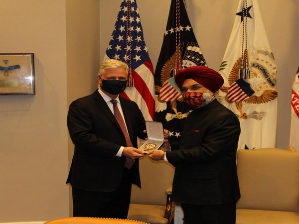 Ambassador Taranjit Singh Sandhu accepted the medal on the behalf of Prime Minister Modi.
