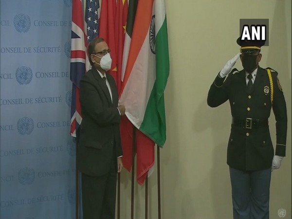 The Indian flag  installed today as it becomes the incoming UNSC member